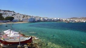 Mykonos, die Kykladen, Griechenland Stockfotografie
