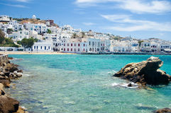 Mykonos durch Seaside Lizenzfreies Stockfoto