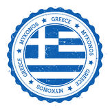 Mykonos flag badge. Royalty Free Stock Image