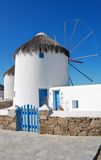 Mykonos - Gated Windmill Stock Image