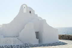 Mykonos, Grèce - église orthodoxe de Paraportiani Photo libre de droits