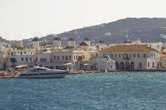 MYKONOS, GRECIA - 13 DE SEPTIEMBRE DE 2010: Isla mediterránea de Myk Imágenes de archivo libres de regalías