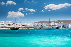 MYKONOS, GREECE- JULY 4, 2017: Royalty Free Stock Images