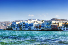 Mykonos Greece. Mykonos, Greece.  Little Venice area Stock Photo