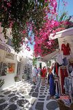 Mykonos, Greece, September 7, 2018, Beautiful views that can be admired in the typical town of Chora in Mykos. Greece royalty free stock photo