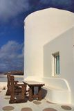 Mykonos, Greece. Table by the House in Mykonos royalty free stock image