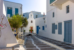 Mykonos. Greece, Mykonos, the typical architectures of the Chora old town Royalty Free Stock Image