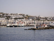 Mykonos Greek Islands stock images
