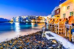 Mykonos grekiska öar - Grekland Royaltyfria Bilder