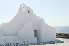 Mykonos, Griechenland - orthodoxe Kirche Paraportiani Lizenzfreies Stockfoto