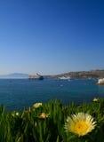 Mykonos Hafen Stockbild