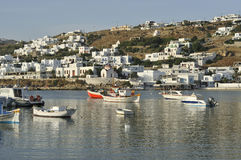 Mykonos Harbour Stock Photos