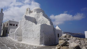 Mykonos Harbour, Mykonos Island, Greece. Mykonos is an island in the Cyclades group in the Aegean Sea royalty free stock image