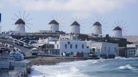 Mykonos Harbour, Mykonos Island, Greece. Mykonos is an island in the Cyclades group in the Aegean Sea stock photo
