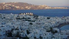 Mykonos Harbour, Mykonos Island, Greece. Mykonos is an island in the Cyclades group in the Aegean Sea royalty free stock photos