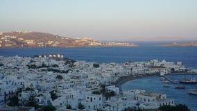 Mykonos Harbour, Mykonos Island, Greece. Mykonos is an island in the Cyclades group in the Aegean Sea stock photos