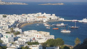 Mykonos Harbour, Mykonos Island, Greece. Mykonos is an island in the Cyclades group in the Aegean Sea stock images