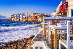 Mykonos, ilhas gregas - Gr?cia imagem de stock royalty free