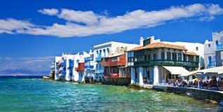 Mykonos Insel Stockfotos