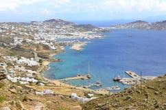 Mykonos-Insel Stockbild