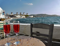 Mykonos Insel, Griechenland stockbilder