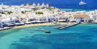 Mykonos-Insel in Griechenland die Kykladen Stockbild