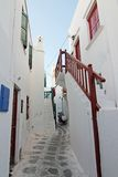 Mykonos Island Alley Royalty Free Stock Image