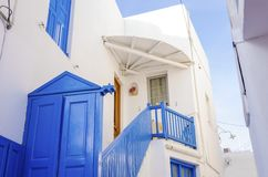 Mykonos island architecture, Greece Royalty Free Stock Image