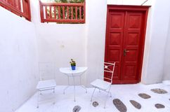 Mykonos island architecture, Greece Stock Photography