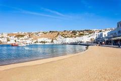 Mykonos island beach, Greece Royalty Free Stock Images