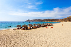 Mykonos island beach, Greece Royalty Free Stock Photos