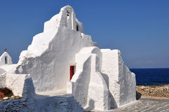 Mykonos island church,Greece Royalty Free Stock Photo