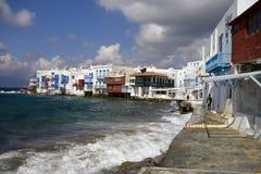 Mykonos island coastline Stock Photo