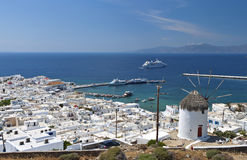 Mykonos island in Greece Royalty Free Stock Photos