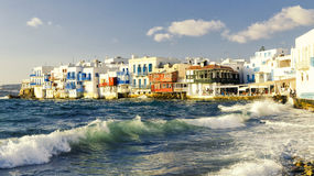 Mykonos island in Greece Cyclades Stock Images