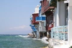 Mykonos island in Greece Stock Images