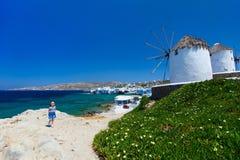 Mykonos island stock image