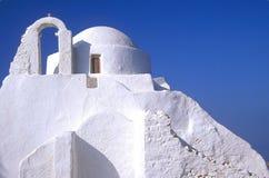 Mykonos Kirche Stockfotos