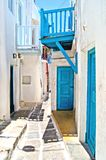Mykonos lane Royalty Free Stock Images