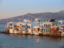Mykonos little venice Stock Images