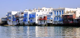 Mykonos, Little Venice Stock Photo