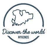 Mykonos Map Outline. Vintage Discover the World. Mykonos Map Outline. Vintage Discover the World Rubber Stamp with Island Map. Hipster Style Nautical Insignia royalty free illustration