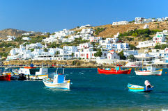 Mykonos old port, Greece Stock Image