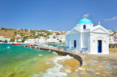 Mykonos old port Royalty Free Stock Photo