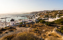 Mykonos. Old port view in Mykonos Royalty Free Stock Photography