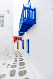 Mykonos old town street Royalty Free Stock Photography