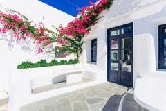 Mykonos old town street Stock Photo