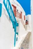 Mykonos old town street royalty free stock photos