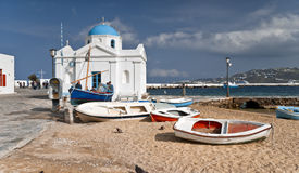 Mykonos out of season Royalty Free Stock Images