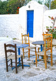 Mykonos Outside Seating Royalty Free Stock Images